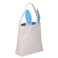 antistatic bags - Easter Bunny Bag Easter Basket Tote Handbag Dual Layer Bunny Ears Design Signature Cotton for Carrying Eggs Gifts to Easter Party
