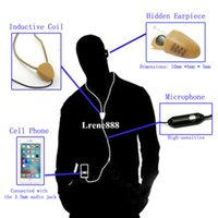 Cheap wireless inductive neckloop with mini invisible earpiece a680 full set for android Iphone