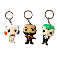 Wholesale Suicide Squad Keychain Harley Quinn Christmas Chain Ring Jared Leto The Joker Margot Robbie Will Smith Deadshot Floyd Lawton