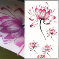 Wholesale Beautiful Lotus Tattoo Makeup Cover Temporary Tattoo Sticker Bulk Temporary Tattoos For Arm Fake Tattoo Stickers Flowers WTA0301