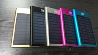 aluminum solar cell - Ultra thin universal solar mobile power mAh convenient cell phone charging Power aluminum mobile power for iPhone Samsung HTC iPad