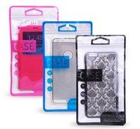 Fashion Zipper bolsa de embalaje al por menor media bolsa de plástico OPP paquete transparente para el iPhone 6s Samsung S6 borde HTC Nokia paquete de teléfono universal paquete