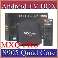 Wholesale 12X MXQ Pro K TV Box Amlogic S905 Quad Core Android Ultra K Streaming Kodi16 full load Android Box MXQ pro with WiFi HDMI DLNA D TH
