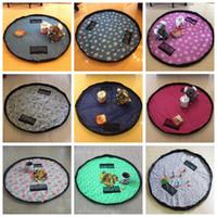 Acheter Stockage pour les jouets-Kids Toys Sac de rangement Baby Foldable Drawstring Beam Sacs Port Finition Surdimensionné Portable Multifonctions Home Organizer Bin Sac Tapis De Jouet F531