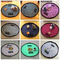 Sundries beam compression - Kids Toys Storage Bag Baby Foldable Drawstring Beam Bags Port Finishing Oversize Portable Multifunction Home Organizer Bin Bag Toy Mats F531