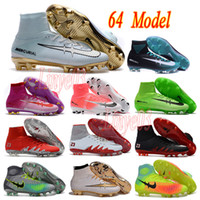 Wholesale 2017 mens high ankle football boots CR7 Mercurial superfly V FG soccer shoes magista obra II soccer cleats ACC Hypervenom Phantom IC TF
