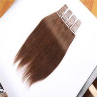 Acheter 18 pouces liaison droite-Ruban adhésif en ligne européen peru européen brésilien pré-lié en cheveux capillaires en cheveux Extensions de cheveux en trame de peau 80g par paquet 40pcs 16-26 pouces