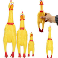 Wholesale New CM Yellow Screaming Rubber Chicken Pet Dog Toy Squeak Squeaker Chew Gift