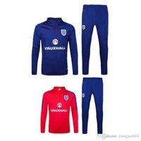 Wholesale 48 Thai version training suit England football soccer skinny pants new tracksuit chandal futbol sweatshirt pant