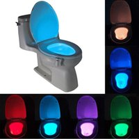 Wholesale Motion Activated Toilet Night Light by Diateklity Two Modes with Color Changing Sensor LED Washroom Night Light Fits Any Toilet p