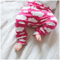 baby clothes on sale - On sale Kids Leggings Pants trousers PP harem Tights Baby legging toddler capris pants Clouds print boy girl clothes baby clothing colors