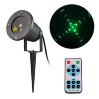 ac lasers - Laser Garden Lighting Aluminum Outdoor Waterproof Landscape Projector Red and Green Christmas Lights with Wireless Remote Control