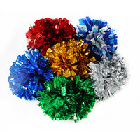 Wholesale Cheering Pompom Metalic Pom Pom Cheerleading Products Flower Ball School Gymnastic Performance Props Hand Double Headed Flowers Welcome hj