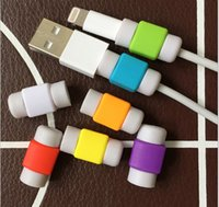 Wholesale DHL Hot Sell charging data line protector sets Earphone date line protector For iphone ipad cable line lightning Saver Cover Case