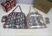 Wholesale Free FALABELLA mini handbag in fluffy deer two chain cross single women Single shoulder bag Stella Mccartney DHL transport