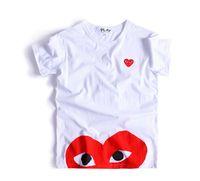al por mayor amantes corazones-Juego de moda de O-cuello de primavera de verano Kawakubo Red corazón mujeres amantes de hombres impreso camiseta