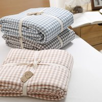 beds india - Authentic good washed cotton summer is cool summer is Japanese bedding Cotton Plaid Cotton quilt India without air conditioning