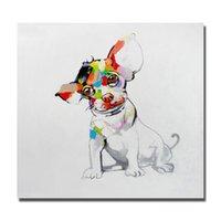 african restaurant - Simple design one Panels art African animal cartoon dog oil painting cheap price thai restaurant decoration