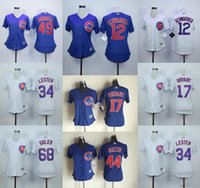 Wholesale Womens Chicago Cubs Chris Bryant Kyle Schwarber Jake Arrieta Anthony Rizzo Stitched Cool Base Baseball Jerseys