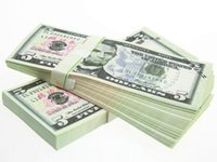 Wholesale Money banknote USD5 for props and Education bank staff training paper fake money copy money children gift