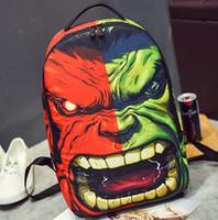 banner canvas - Hulk backpack Green giant daypack Robert Bruce Banner schoolbag Hero rucksack Sport school bag Outdoor day pack
