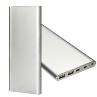 Wholesale New style Ultrathin Slim Portable external glod Powerbank fast charging large capacity mah mah standard packaging