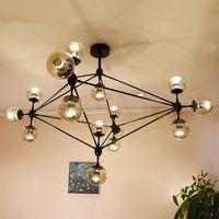 Wholesale Modern Magic Bean DNA Chandelier Ceiling Modo Jason miller lamps Nordic Art Deco glass ball Hanging Lamp Kitchen Light Fixtures