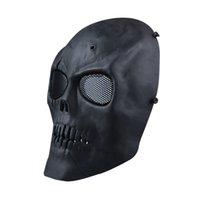 S5Q Airsoft Paintball Esqueleto Cara Completa Protect Máscara CS Field Máscara Protectora AAAGFP