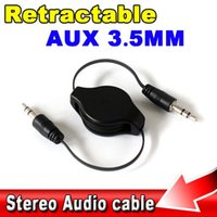 Wholesale HOT mm to Jack Stereo Car Audio Flexible Extension Cable Male Retractable Aux Music Line for iphone plus for LG g2 G3