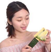 Wholesale New DIY Cucumber Cutter Curl Slicer Sharpener Vegetable Fruit Carving Tools Slices Peeler Tools Facial Mask Kitchen Gadgets