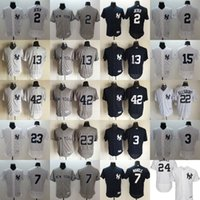 Wholesale MLB New York NY Yankees jerseys FlexBase baseball Jerseys JETER RIVERA ELLSBURY RUTH MATTINGLY MUNSON MANTLE freeship