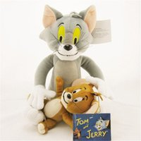 Wholesale New Cute Soft Tom and Jerry Plush Doll Cartoon Stuffed Animal Toy Anime Cat Mouse Kids Gift