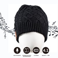 Wholesale Wireless Bluetooth Thick Knit Beanie Hat include Built in Stereo Headphone Earphone and Microphone for Outdoor Sports or Holiday Gifts