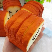 Wholesale Cellphone Holder Jumbo Toast Hand Pillow Kawaii Squishy Phone Strap Card Bread