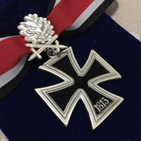 Wholesale German Iron Cross Medals with Ribbon Knights ww2 with Silver Oak Leaves in Cloth Bag