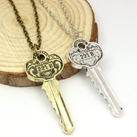 antique televisions - United Kingdom Television Sherlock Holmes B Key Chain Necklace Vintage Antique Gold Silver Plated Pendant Necklace