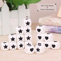 baby beads bracelet - BPA Free Silicone Loose Beads Star Heart Cube Beads For DIY Bracelet Necklace Food Grade Baby Silicone Teething Beads Nursing Jewelry
