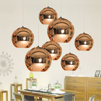 Wholesale Mirror Ball Pendant Plated Glass Ball Chandelier Modern Art Lighting Tom Dixon Plating Ball Pendant Lights Silver Golden Bronze