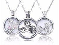 beads and jewelry - 925 Sterling Silver Pandora Floating Locket With Charms Pendant Necklace fit For European Pandora Style Charm Jewelry and Bead DIY