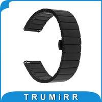 Vente en gros-20mm bande de sortie rapide pour Moto 360 2 42mm Samsung Gear S2 classique (SM-R7320) Bracelet de montre en acier inoxydable Bracelet Noir Argent