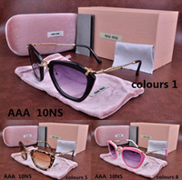 Wholesale 2016 ns Brand cat eye Designer men woman Tom Dita ver mi Butterfly sunglasses Ford with origianal box carrer Crocodile Versacey glasses