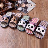 bamboo slippers - New Summer Linen Slipper Rattan Bamboo Slippers Men Women Pantofole Panda Pantufas Animal Cartoon Pantuflas Home Shoes Pantuflas