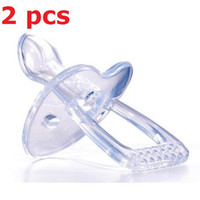 baby gels - Simple Clear Transparent Safe Silicone Gel Love Heart Shape Baby Care Infant Toddler Pacifier Flat Round Nipple