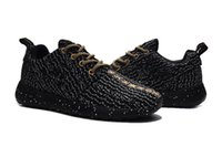 Rugby black knit boots - One X Kanye Running Shoes for Men New Gold Black Knitting Mens Trainer Shoes Boots US7