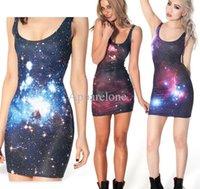 Cheap Galaxy Print Dress Plus Size   Free Shipping Galaxy Print ...
