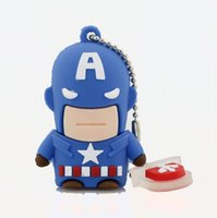 Usb Flash Drive Nouveau Pen Drive 32gb Pendrive 16gb 8gb Cartoon Superman Batman Hot Avenger Iron homme Usb 2.0 Memory Stick U Dis