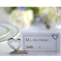 Wholesale Fashion heart shaped folder wedding folder table folder wedding decoration