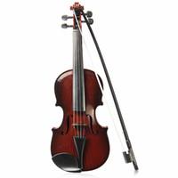 al por mayor cuerdas para instrumentos musicales-Mayorista-Ajustable String Musical Beginner desarrollar Kid talento Simulación Juguetes Bow Acoustic Violin Práctica Demo Instrumento Niños Regalo