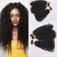 Wholesale Indian Deep Curly Hair Bulk No Attachment Bundles A Human Hair Extension Bulk for Braiding