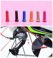 20pcs / set 7Colors Câble de frein de fil de fin de câble Pièces de câble Aluminium MTB Bicyclette Bike Ligne de fil intérieur Core Cap Cover Vitesse Shift Brake